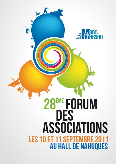 affiche du forum des associations 2011 à Mont de Marsan