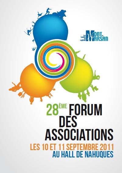 affiche du forum des associations 2011 à Mont de Marsan