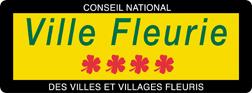 image-lien : Panneau ville fleurie 4 fleurs et lien vers site internet www.villes-et-villages-fleuris.com
