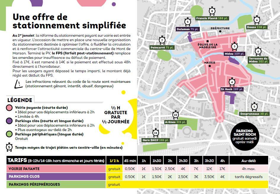 image : Carte stationnement à Mont de Marsan