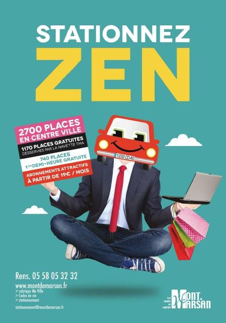 image : Affiche stationnez zen
