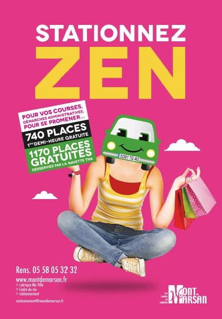 image : Affiche stationnez zen utilisateurs occasionnels