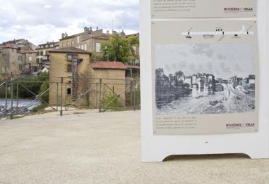 image : Photo panneau exposition histoire fluviale de Mont de Marsan