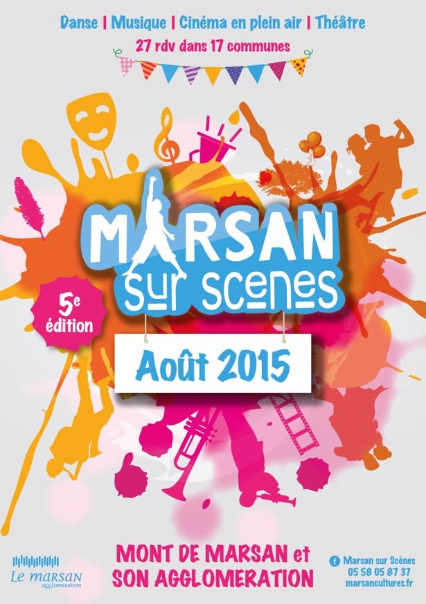 image-lien : Affiche Marsan sur scènes et lien vers site internet facebook