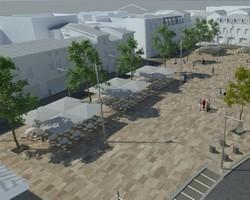 image : vue de la future place Saint Roch à Mont de Marsan