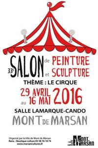 image : Affiche Salon de peinture 2016 - Mont de Marsan