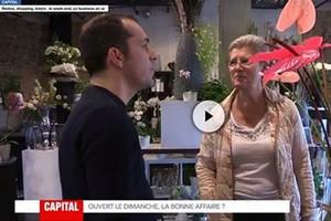 image : Geneuviève Darrieussec (Maire de Mont de Marsan) et le président des commerçants