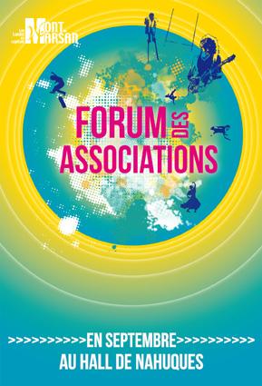 image : affiche du forum des associations de Mont de Marsan