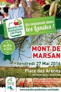image : Affiche marché des producteur - Mont de Marsan