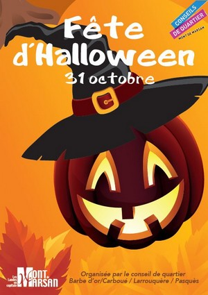 image : visuel de la fête Halloween - Conseils de quartier - Mont de Marsan