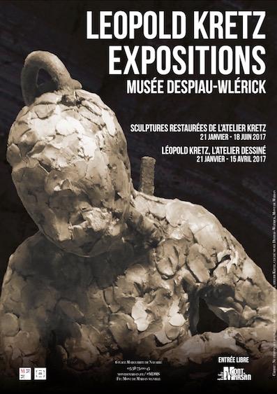 image : Affiche Léopold Kretz - Expos 2017 - Musée Despiau Wlérick