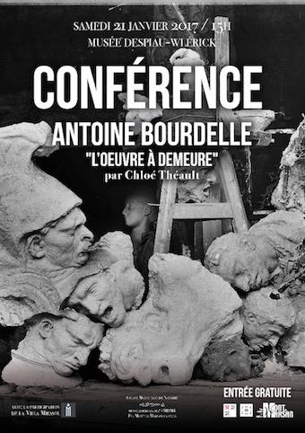 image : Affiche Antoine Bourdelle - Conférence janvier 2017 - Musée Despiau Wlérick