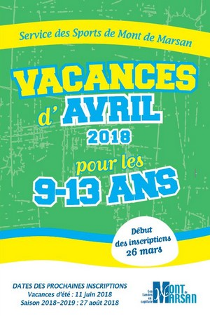 image : visuel Passs...Sport montois - avril 2018