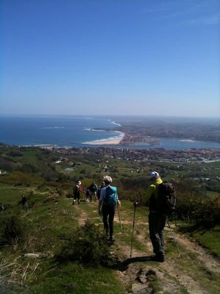 image : Vue de la randonnée à Fontarrabie 2014