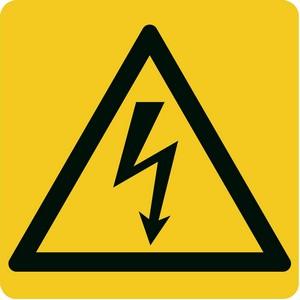 image : Panneau Jaune coure électrique