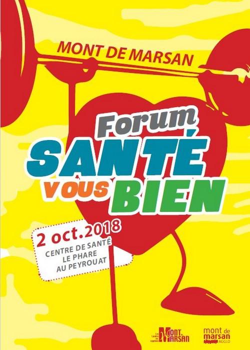 image : Affiche Forum Santé vous Bien du 2 oct.2018 - Mont de Marsan Agglo
