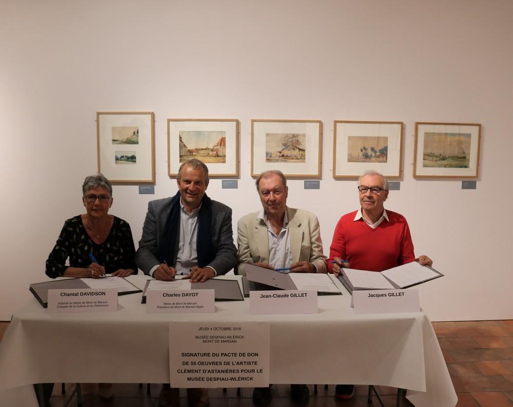 image : Signature du pacte de don de Clément dAsnieres - Musée Despiau Wlérick - Mont de Marsan
