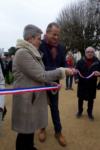 Inauguration du square des anciens combatants - G Darrieussecq - C Dayot - Mont de Marsan
