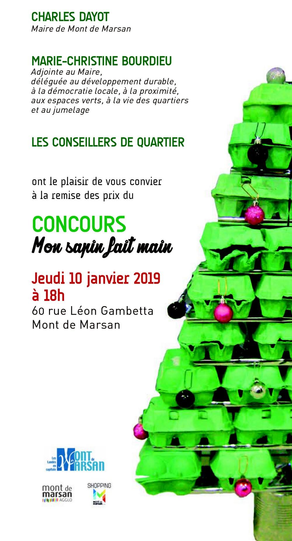 iimage : remise de prix du concours Mon sapin fait main - Mont de Marsan