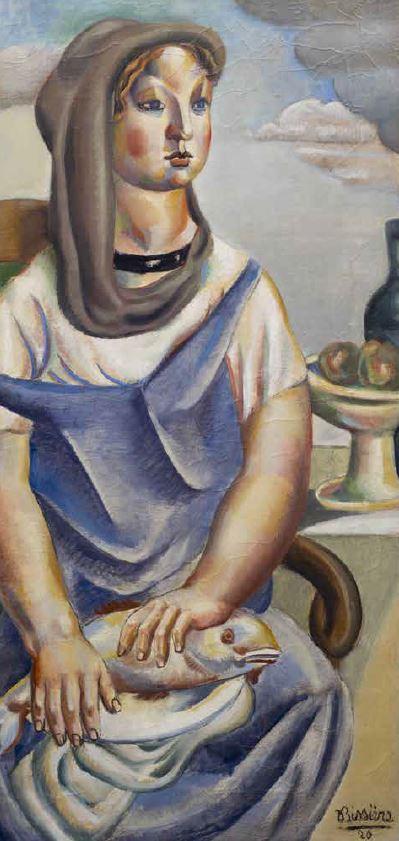 image : La jeune fille au poisson - Roger Bissière - Musée Despiau-Wlérick - Mont de Marsan