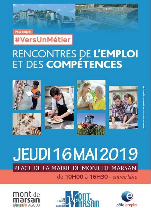 image : Affiche rencontres de lemploi et des compétences - Jeudi 16 mai 2019 - Mont de Marsan