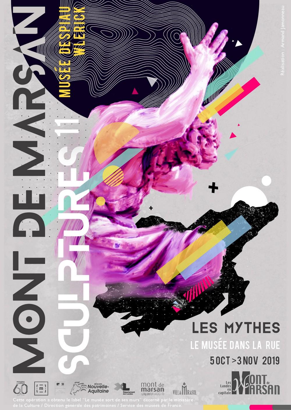 image : Visuel de Mont de Marsan Sculptures 11 - Les Mythes - 5 oct 3 vov 2019 - Mont de Marsan