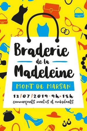 image : Affiche braderie de la Madeleine - Mont de Marsan - 13 juillet 2019