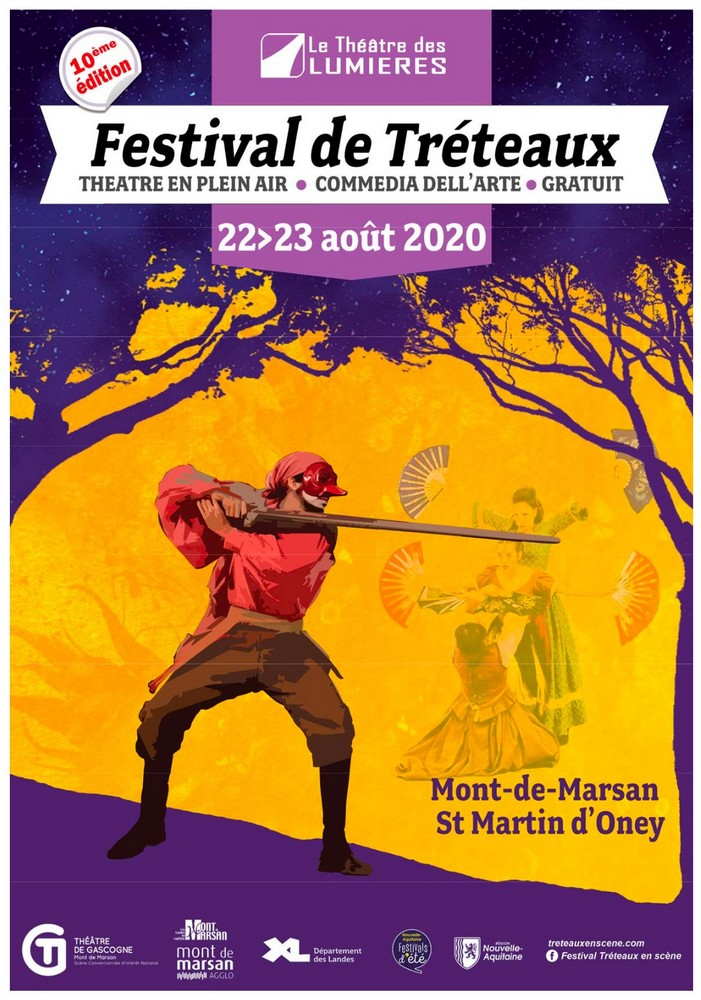 image : Affiche du festival des tréteaux - Mont de Marsan Agglo 2020