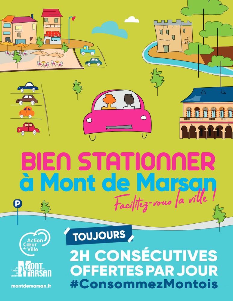 image : Stationnement 2h gratuites - Mont de Marsan