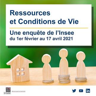 image : Ressources et Conditions de Vie - Enquete Insee 2021