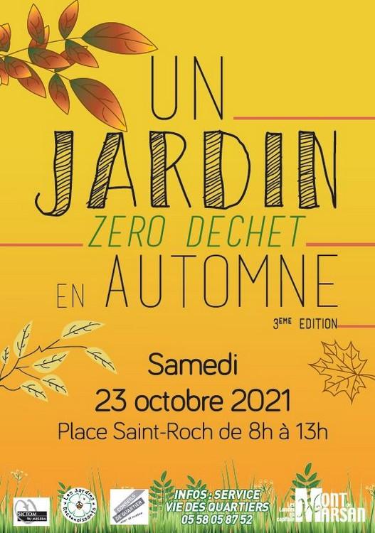 image : Affiche Un jardin en automne zéro déchet le 23 octobre 2021 - Mont de Marsan